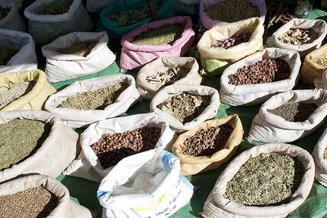 spices at a berber market