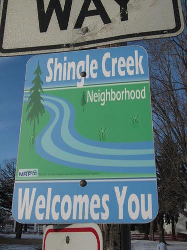 Shingle Creek Neighborhood Sign