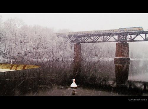 bridge winter snow paris water train viarail whiteout picnik buoy 2012 abigfave penmansdam bestcapturesaoi flickryes2012