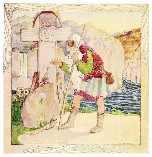 009-El viejo bendice a la princesa-Polish fairy tales 1920-Cecile Walton