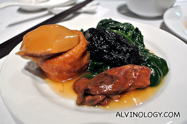Individual portion of the abalone and oyster