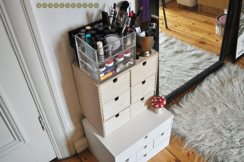 make up collection storage ikea drawers sewing textiles
