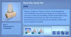 Deux Chic Vanity Set