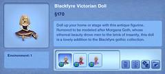Blackfyre Victorian Doll