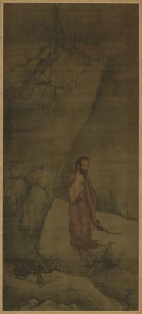 南宋-梁楷-釋迦出山圖-纸本设色-东京国立博物馆