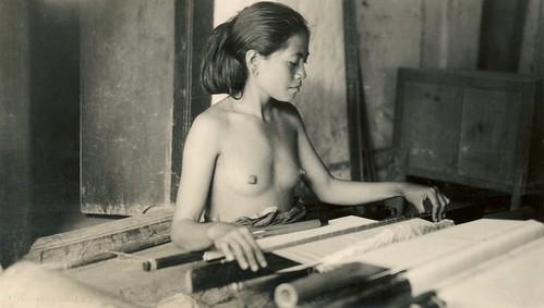 Balinese weaver girl