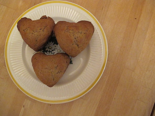 heart shaped muffins