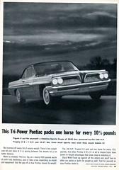 1961 Pontiac Catalina Sports Coupe Advertisement Motor Trend April 1961
