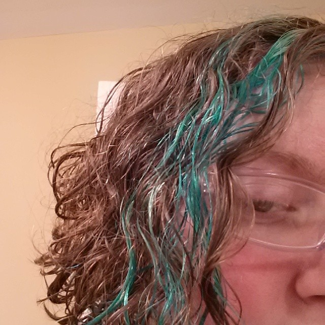 dyed hair at home blue