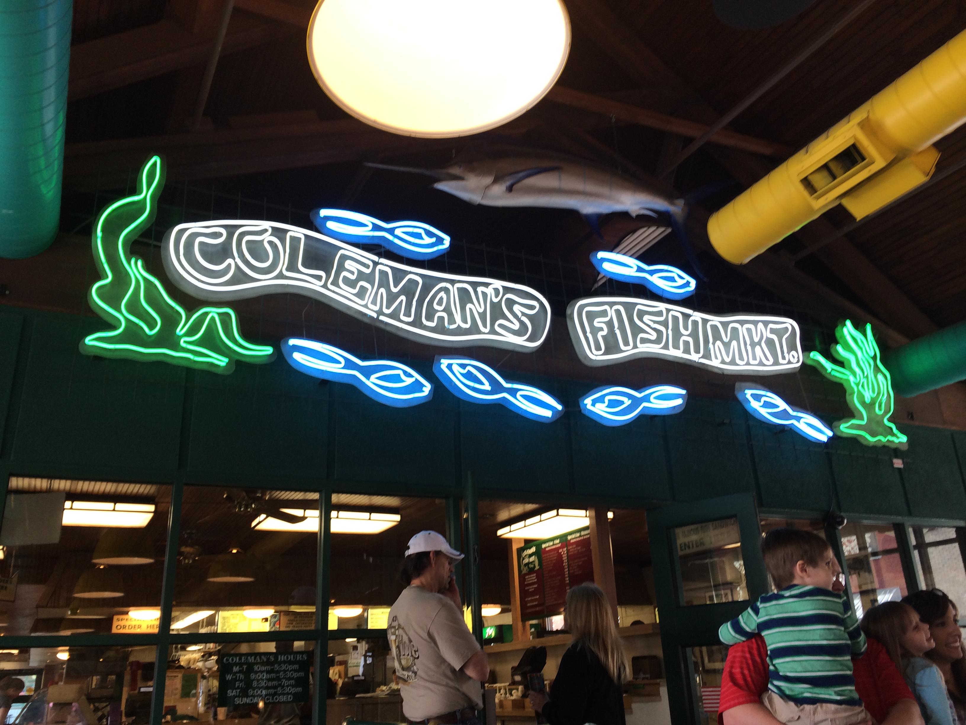 Candace lately wheeling edition coleman 39 s fish market for Coleman s fish market