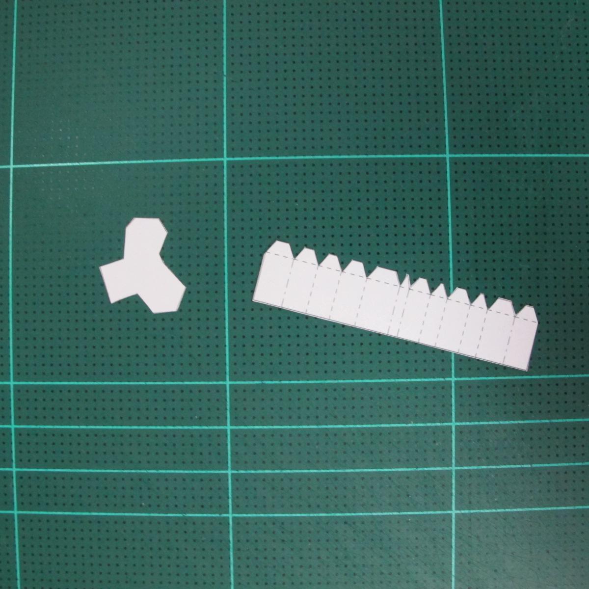 วิธีทำโมเดลกระดาษตุ้กตา คุกกี้ รัน คุกกี้รสซอมบี้ (LINE Cookie Run Zombie Cookie Papercraft Model) 006