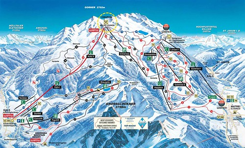 Kals Matrei / Grossglockner Resort - mapa sjezdovek