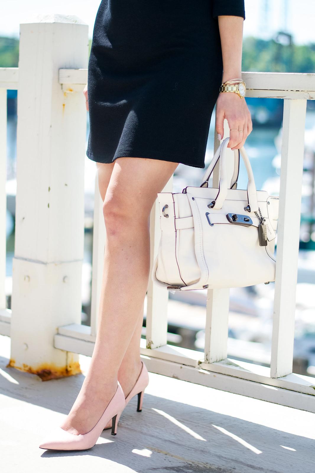 Zara Blush Heels Coach Bag
