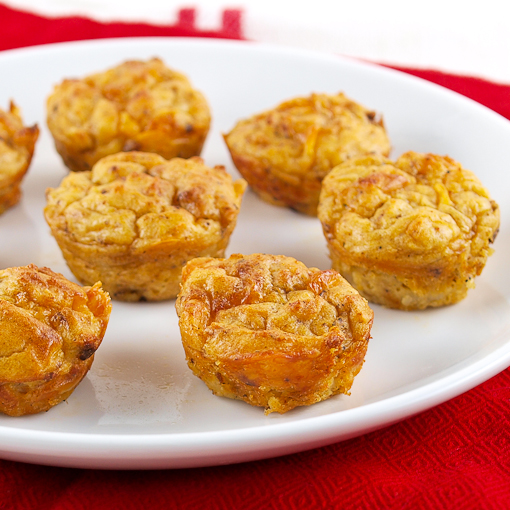 Chorizo Cheddar Potato Puffs