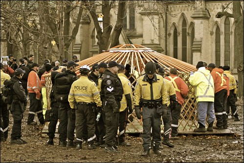 occupy toronto evicted peacefully ......