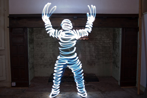 Light Mummy Light Painting, Undisclosed Location, Worcester, November 2011