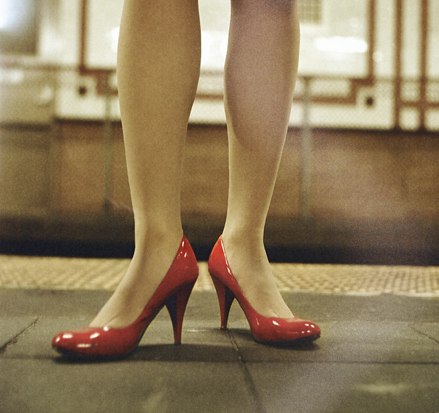 Red Heels on the A-train, NYC