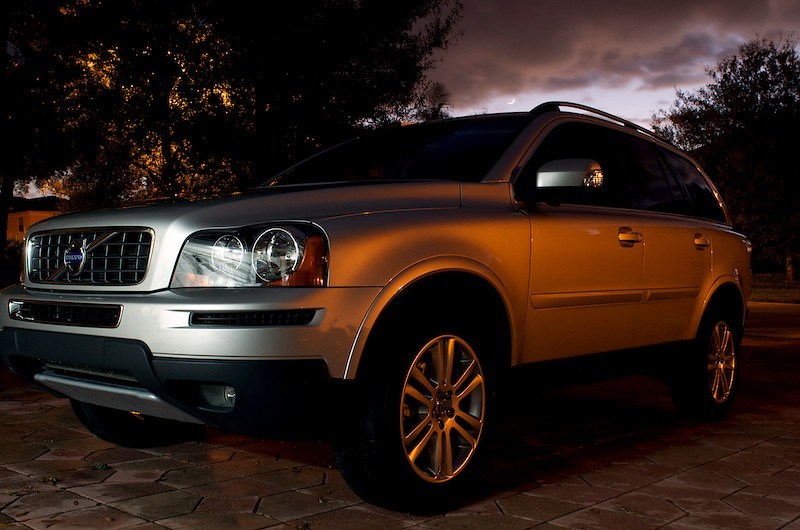 Volvo at dusk