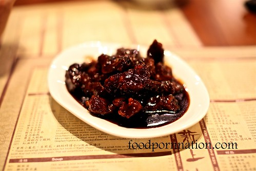 Sweet & sour pork rib with dark vinegar sauce @ New Shanghai