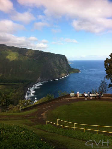 A view of Waipio Valley on the way down to the valley