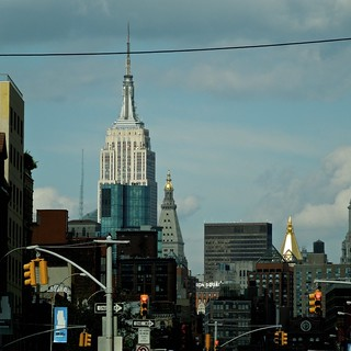 Empire State Building viewed from Lower East Side (Bowery at Delancey Street)