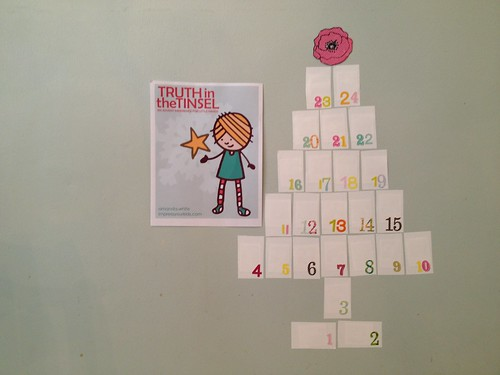 advent calendar for preschoolers DIY