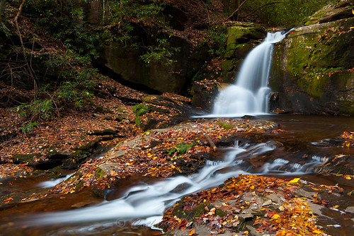 autumn fall nature water creek river waterfall stream outdoor granite flowing fissure freshwater crevice ravenclifffalls doddcreek johncothron cothronphotography doddcreekfalls
