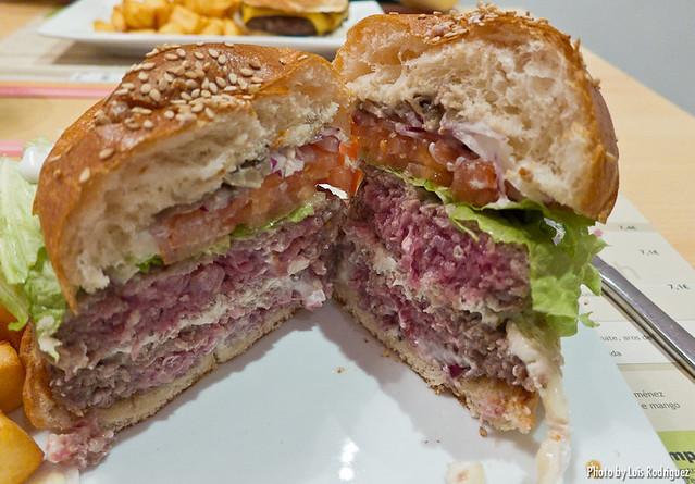 La hamburguesa Maxi Lab