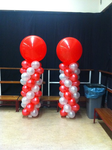 Ballonpilaar Breed Rond Maerland College Brielle