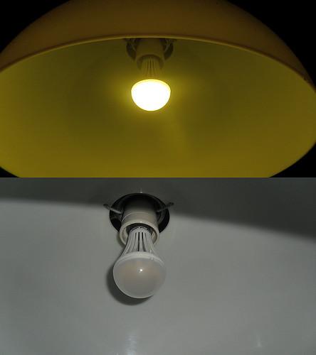 Kollane LED valgus, 7 W