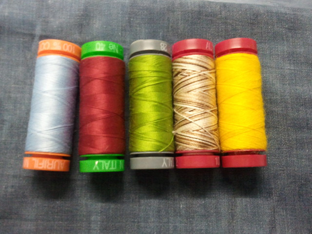 Aurifil tester package of threads