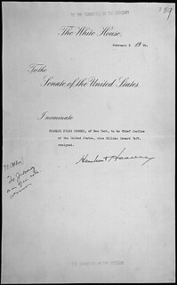 Message of President Herbert Hoover nominating Charles Evans Hughes to be Chief Justice of the United States, 02/03/1930