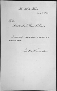 Message of President Franklin Roosevelt nominating James A. Farley to be Postmaster General, 03/04/1933