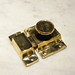 "Latch base: 2-1/4"" x 1-5/8"" Catch: 2-1/4"" x 3/4""  Material: solid-brass  Finish: polished-brass (unlacquered) * custom finishes available upon request (including satin-brass, aged-brass, antique-brass, oil-rubbed-bronze, satin-nickel, pewter, polished-nickel, satin-chrome, polished-chrome, black, etc.)  Please contact us for current availability and pricing  <a href=""http://www.thedoorstore.ca"" rel=""noreferrer nofollow"">www.thedoorstore.ca</a>"