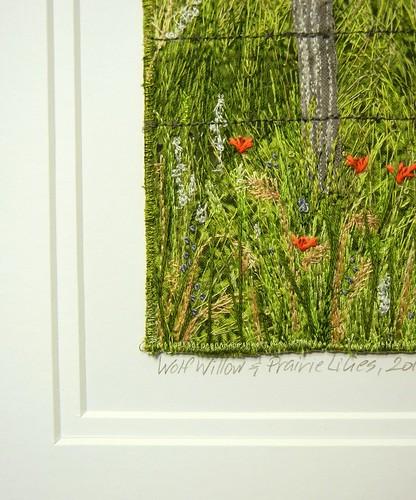 Wolf Willow & Prairie Lilies, 2011 (detail) by My Sweet Prairie - Monika Kinner