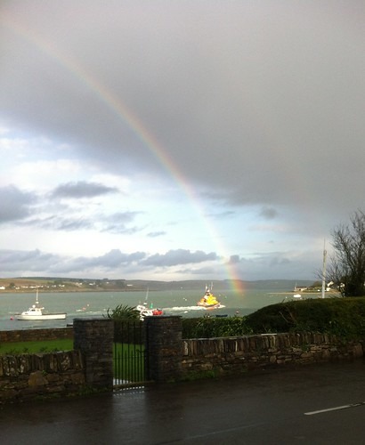 Courtmacsherry lifeboat heading for the pot of gold. by despod