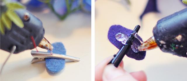 Flower Hair Clips DIY_Flower Christmas Tree Ornaments-3-4