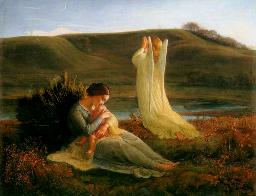 Louis Janmot - The Angel and the Mother