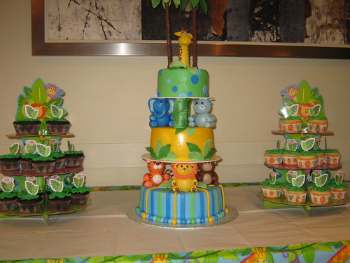 Jungle baby shower by Cake Maniac