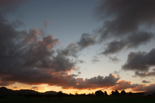 sunset clouds golf hawaii course kauai lihue puakea