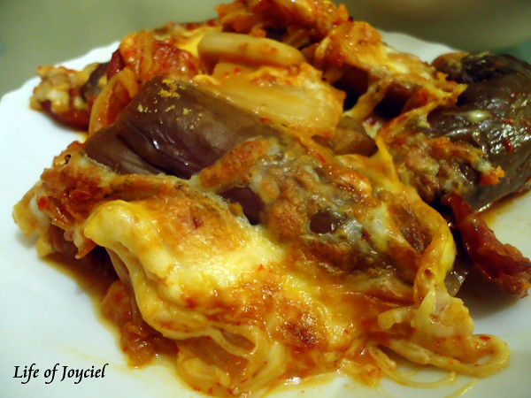 Eggplant Casserole Plated
