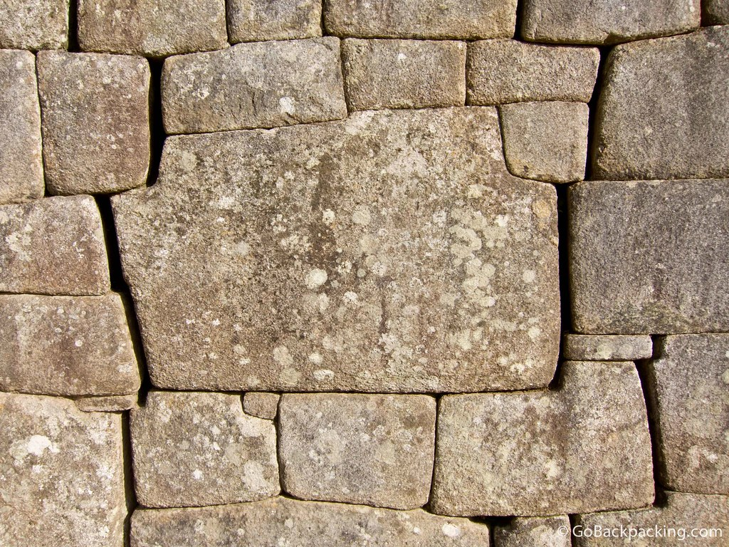 The Incas even took into account earthquakes when they were designing and building Machu Picchu
