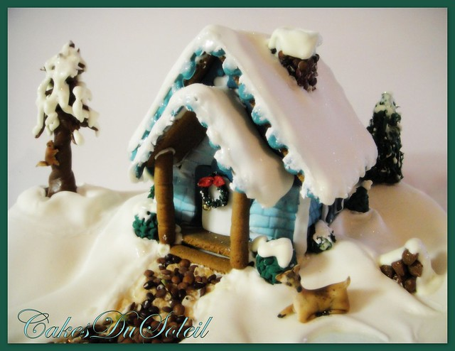 Winter Cottage Gingerbread House