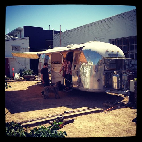 Airstream at Moor St (photo courtesy of @fennb)
