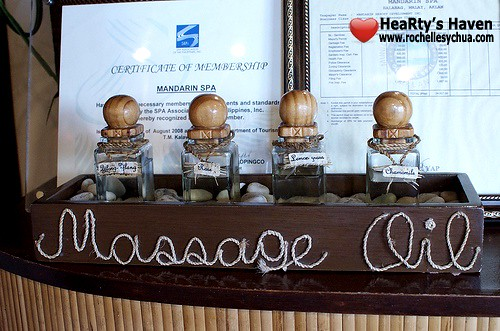 Mandarin Spa Boracay Massage Oils