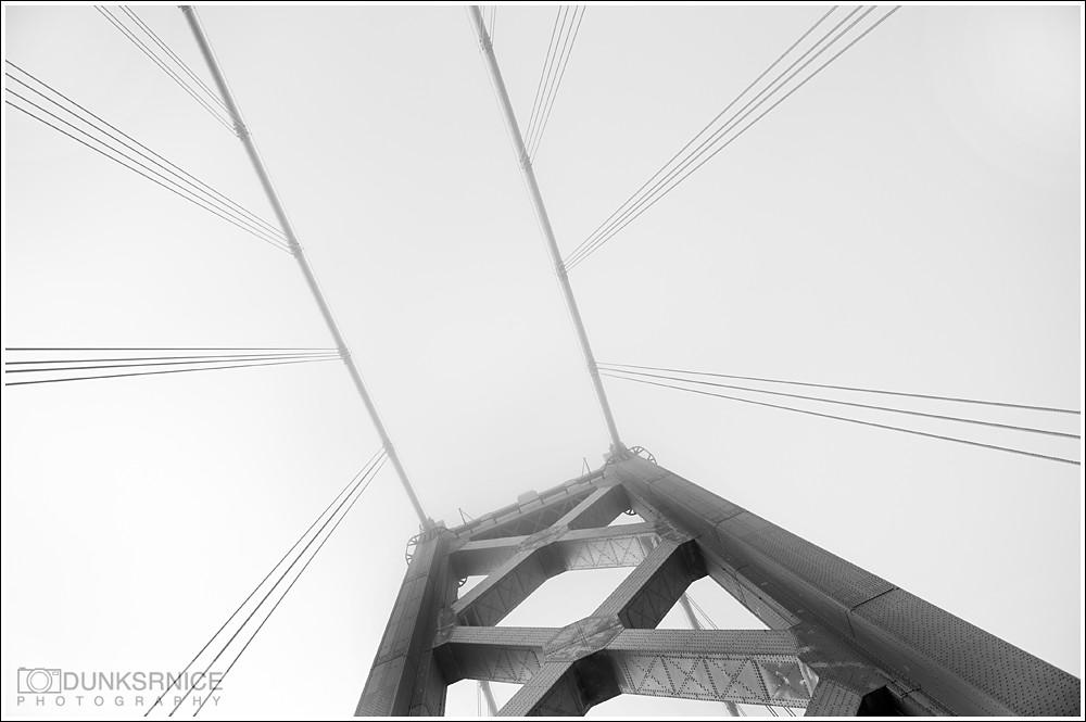 Bay Bridge, B&W.