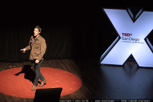 Jason Russell of Invisible Children speaks at TEDxSanDiego in December 2011     MG 4041