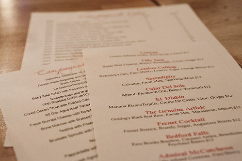 A trio of menus
