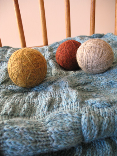 Dryer Ball Cores, after felting