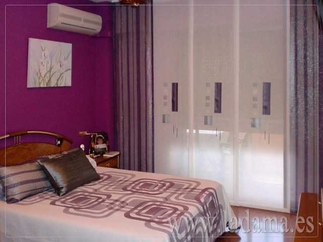 Decoraci n para dormitorios modernos cortinas en barra - Estores modernos ...
